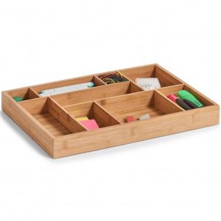 Zeller Schubladen-Organizer, Holz, natur, 44.5 x 32 x 5 cm - Vorschau 2