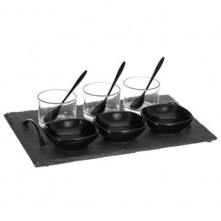 BLACK MENU Set für Snacks, Dressings und Vorspeisen für 3 Personen - 10 Stück