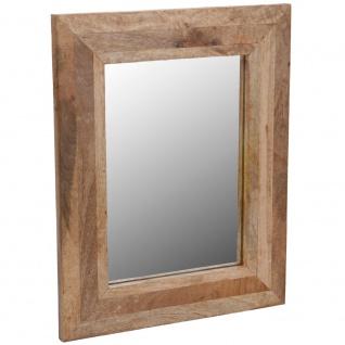 Wandspiegel, Spiegel in einem Holzrahmen aus Mangoholz, 40x50 cm