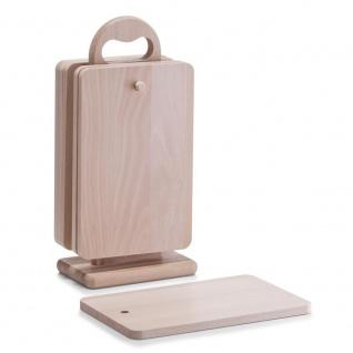 Zeller Brettchenständer, 7-teilig, Buche, L 15 x B 9 x H 31 cm