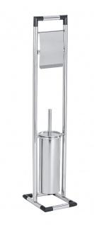 Stand WC-Garnitur Lonigo, Edelstahl rostfrei, glänzend