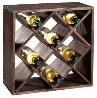 Weinflaschen-Regalsystem, Weinregal, Küchenmöbel FSC®-zertifiziertem Kiefernholz