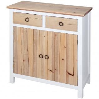 Kommode aus Holz mit 2 Schubladen und Tür 80x72x34 cm