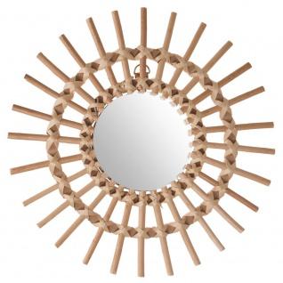 Spiegel im Weidenrahmen, SONNE, Ø 30 cm
