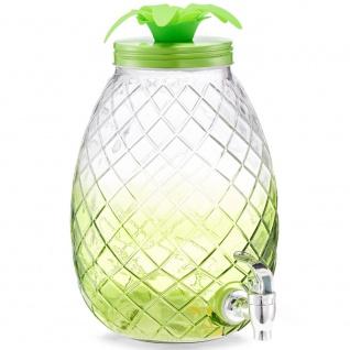 Kanne mit Wasserhahn, Getränkespender, original Ananasbehälter für Säfte und Wasser.