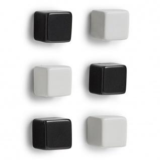Zeller Magnet-Set CUBES, 6 Stück im Set, Kunststoff / Metall /
