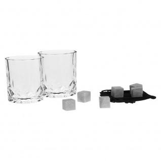 Whisky-Gläser, 2er-Set + Kühlwürfel und Beutel, 9 Elemente - Secret de Gourmet