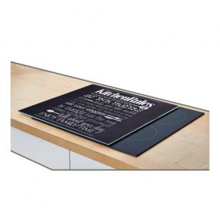 Glasschutzplatte auf dem Herd KÜCHENREGELN - groß, ZELLER - Vorschau 2