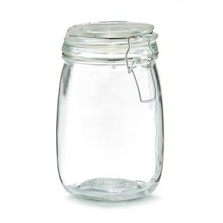Lebensmittelbehälter, Glas mit Deckel, 1000 ml, ZELLER