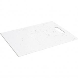 Schneidebrett aus Kunststoff, 32 x 22 cm, weiß