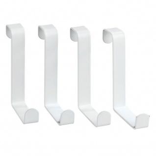 Türhaken, weiß, 4 Stück, mattiert, WENKO