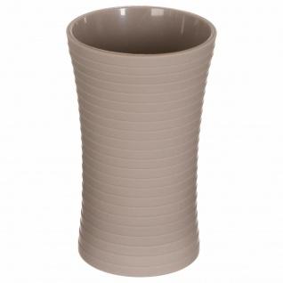 Zahnbürstenbehälter 5five Simple Smart Stripe gelb