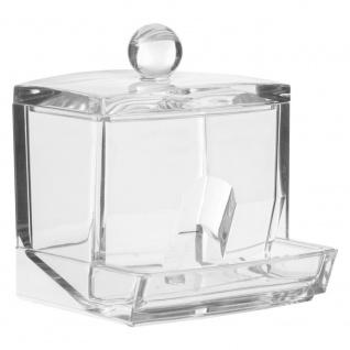 Behälter für Flocken und Wattestäbchen SELENA, transparenter Organizer