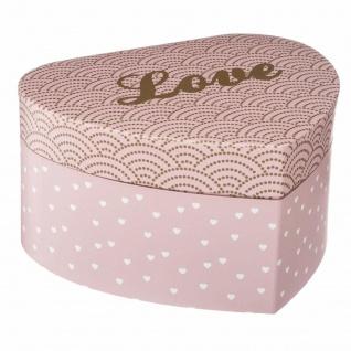 Schmuckbehälter Aufbewahrungsbox Herz Organizer rosa