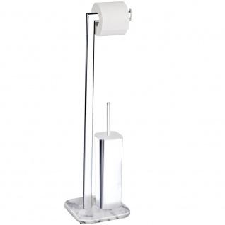 WENKO Ständer für Toilettenpapier und Toilettenbürste, ONYX- 2 in 1