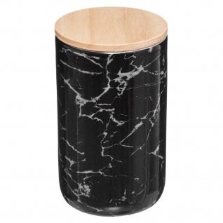 Glas aus Keramik mit Deckel GEOMHYGGE, 820 ml, schwarz