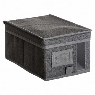 Textil-Organizer mit Sucher, 20 x 30 x 15 cm, schwarz - 5five Simply Smart