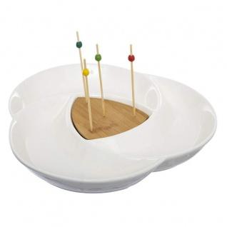 Aperitif-Set, 6-teilig, Keramik und Bambus - Secret de Gourmet
