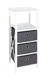 Regal mit 3 Schubladen, 85 x 35 x 34 cm, klappbar, WENKO