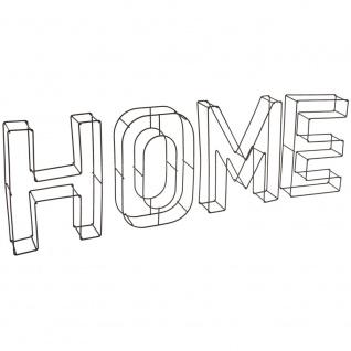 Schriftzug HOME aus Metall zum Aufhängen, Metallwanddekoration 69cm x 24cm x4cm