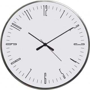 Blaue Uhr mit einem leisen Mechanismus, runde Wanduhr im klassischen Design - Atmosphera