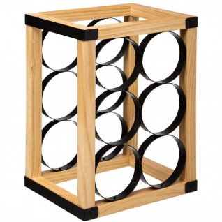 Weinregal aus Holz für 6 Weinflaschen, 31 cm - 5five Simple Smart