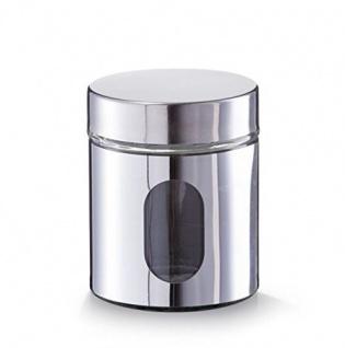 Vorratsbehälter, Glas, eingeschlossen mit Visier, Inhalt 0, 6 l, silber, Zeller