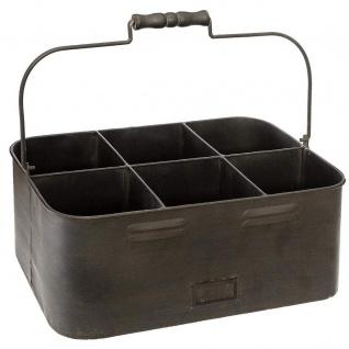 Metall-Kiste für Pflanzen, 35 x 16 cm, schwarz - Atmosphera