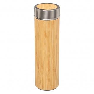 Thermo-Flasche, 350 ml, Bambus