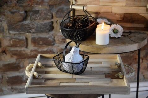 Home Styling Collection Serviertablett Aus Holz, 2er Set - Vorschau 4