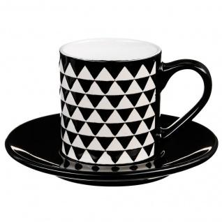 Espressotasse mit Ständer GEOMETRIC 90 ml Zickzack Motiv - Secret de Gourmet