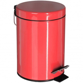 Metall-Abfalleimer 3 L, Metall, rot - 5five Simple Smart