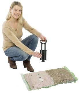 Vakuumbeutel Set Kunststoffbeutel+Pumpe - 40 x 60 cm (3 Stück), 50 x 70 cm (2 Stück), WENKO