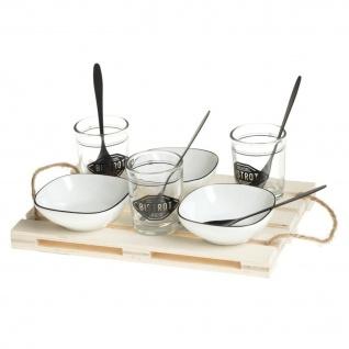 Snackset für 3 Personen mit Holzständer, 10-teilig - Secret de Gourmet