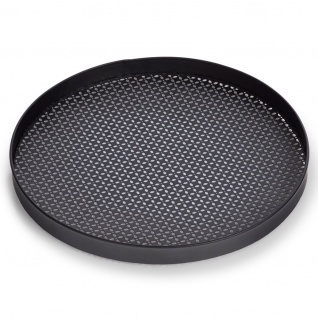 Serviertablett aus Metall, Ø 35 cm, schwarz, ZELLER - ZELLER