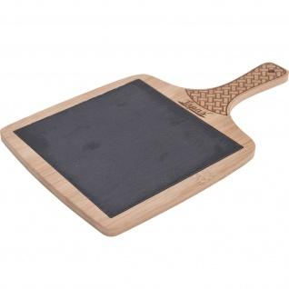 Servier-Tablett, 35 x 20 cm, Bambus, Schiefer