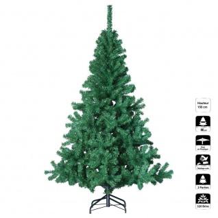 Künstlicher Weihnachtsbaum WEIß - Höhe 1, 50 m - 320 Zweige - PREMIUM QUALITÄT - Fééric Lights and Christmas