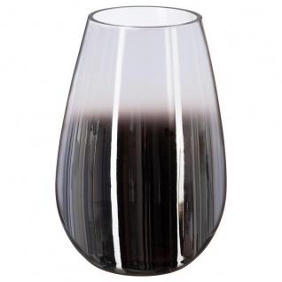 Vase aus Glas FUME, Ø 16 x 23 cm, schwarz-weiß - Atmosphera
