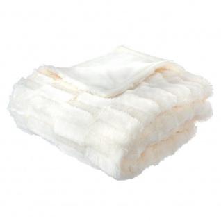 Warm Plaid Bettbezug, Plaid Polyester 180x230cm dunkelgrau - Atmosphera