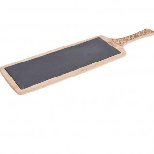 Servier-Tablett, 48 x 12, 5 cm, Bambus, Schiefer
