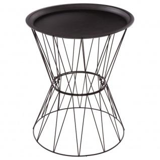 Metall Couchtisch, rund, mit Ablage - in einem modernen Stil