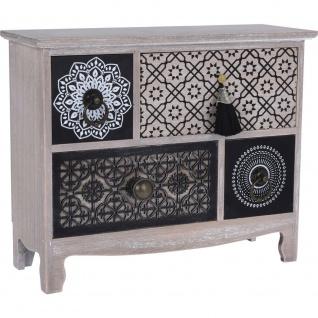 Mini Truhe niedlich kleines Möbelstück für Kleinigkeiten Kosmetik Wertsachen im orientalischen Stil