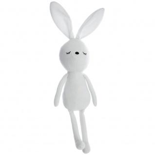 Ein Hase-Maskottchen mit weicher Füllung, charmantes Hasen-Kuscheltier für Kinder im Vintage-Stil