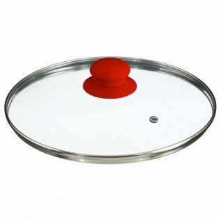 Tiefe emaillierte Pfanne mit Deckel, Aluminium, rot, ca. 24 cm - Vorschau 3
