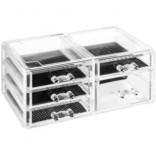 AC-Déco, Organizer für Schmuck, Accessoires - transparent, 5 Schubladen