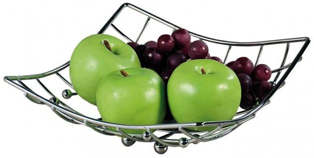 Obst- und Gemüsekorb, Chromschale ist ein schönes und praktisches Accessoire für die Küche des Wohnzimmers oder Esszimmers