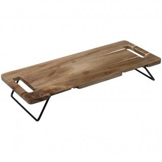 Serviertablett TRIBECART, 48 x 20 cm, Holz