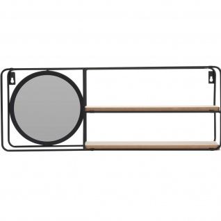 Dekoregal mit kleinem Spiegel, 2 Ablagen, 59 x 20 cm