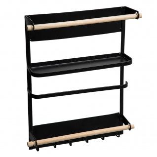 Magnetregal für Kühlschrank, schwarz