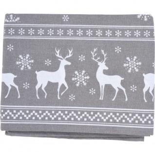 Tischdecke Rentier Weihnachten Tischdecke rot 140 x 240 cm - Home Styling Collection